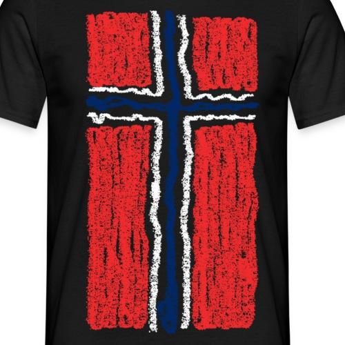 norsk flagg - T-skjorte for menn