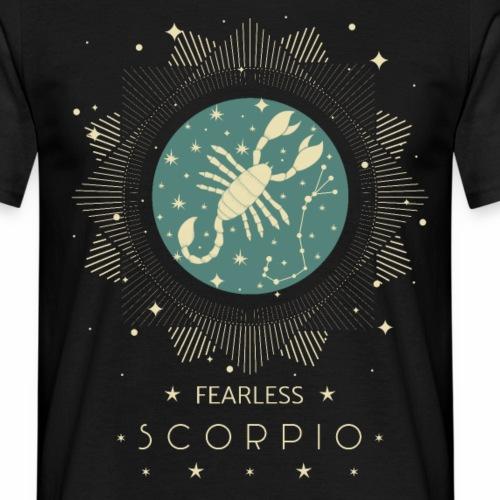 Sternzeichen Furchtloser Skorpion Oktober November - Männer T-Shirt