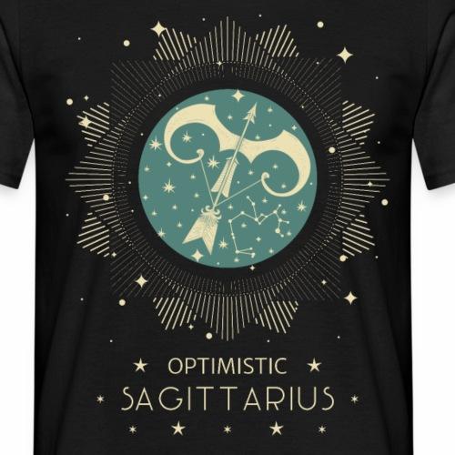 Sternbild Optimistischer Schütze November Dezember - Männer T-Shirt