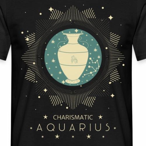 Sternzeichen Wassermann Aquarius Januar Febbruar - Männer T-Shirt