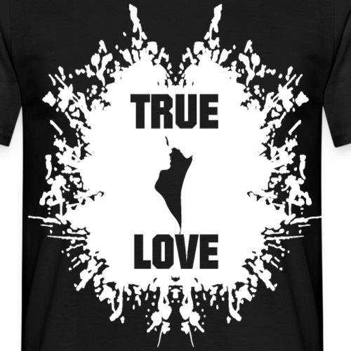 True Love Pärchen Silhuette Geschenk Ideen - Männer T-Shirt