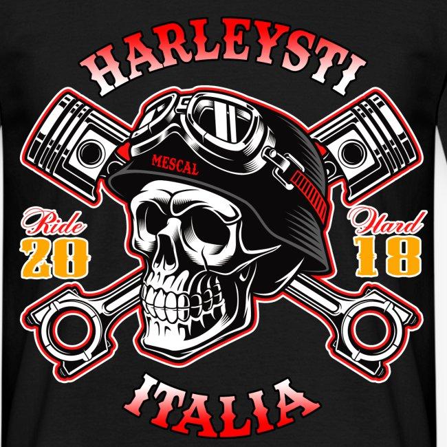 Harleysti Italia - Teschio e pistoni - Ride Hard