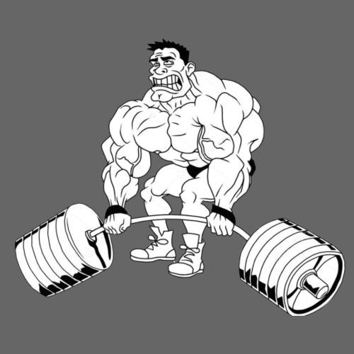 Marklyft stark - T-shirt herr