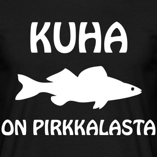 KUHA_ON_PIRKKALASTA - Miesten t-paita