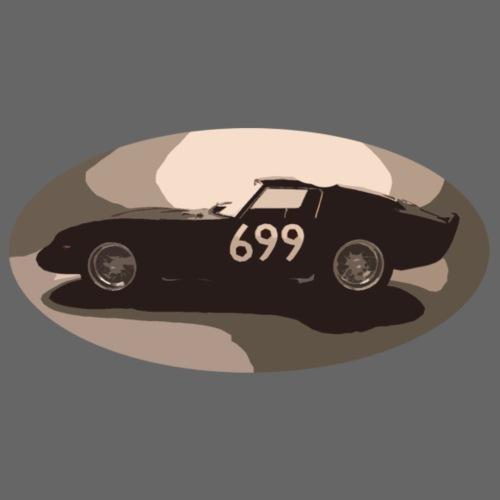 699 auto in stile vintage retrò vecchia corsa classica - Maglietta da uomo