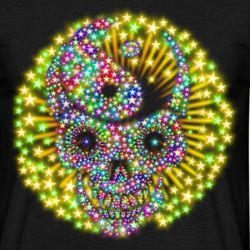 Totenschädel Feuerwerk - Männer T-Shirt