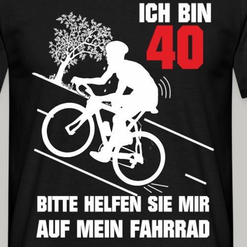 40. Geburtstag Mann Geschenk lustig Biker Fahrrad - Männer T-Shirt