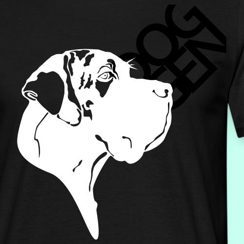 Gefleckter Doggenkopf komplex - Männer T-Shirt