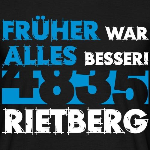 4835 Rietberg Früher war alles besser - Männer T-Shirt