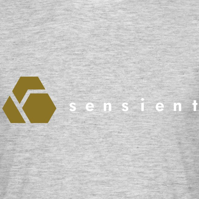 sensient logo with white text