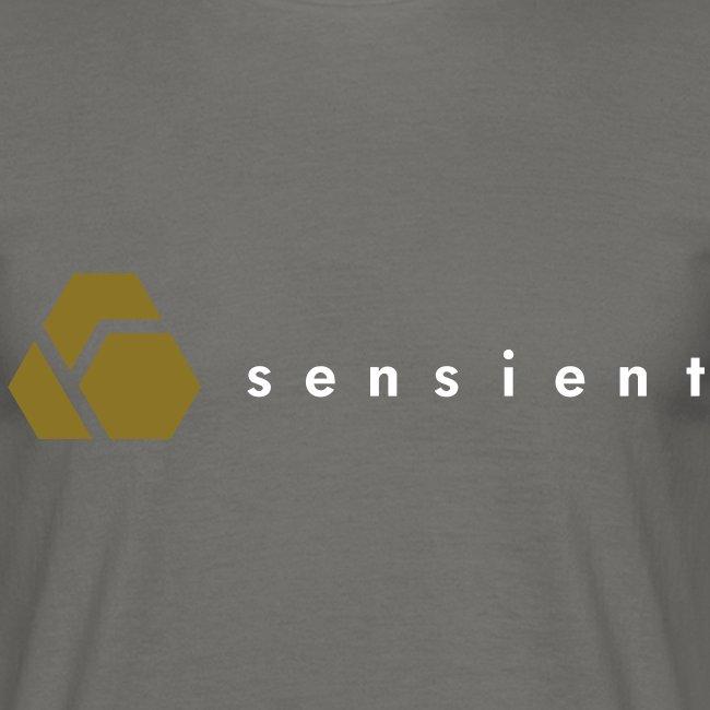 sensient logo with white text