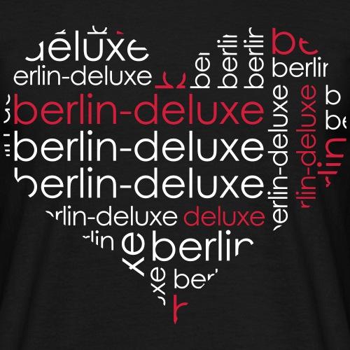 Berlin Deluxe Herz Motiv - Männer T-Shirt