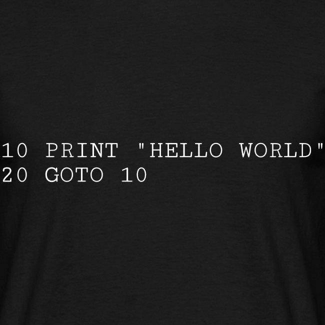 HELLO WORLD - Commodore64 BASIC