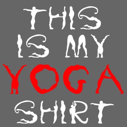 camicia yoga sport bianco spiritualità meditazione arte - Maglietta da uomo