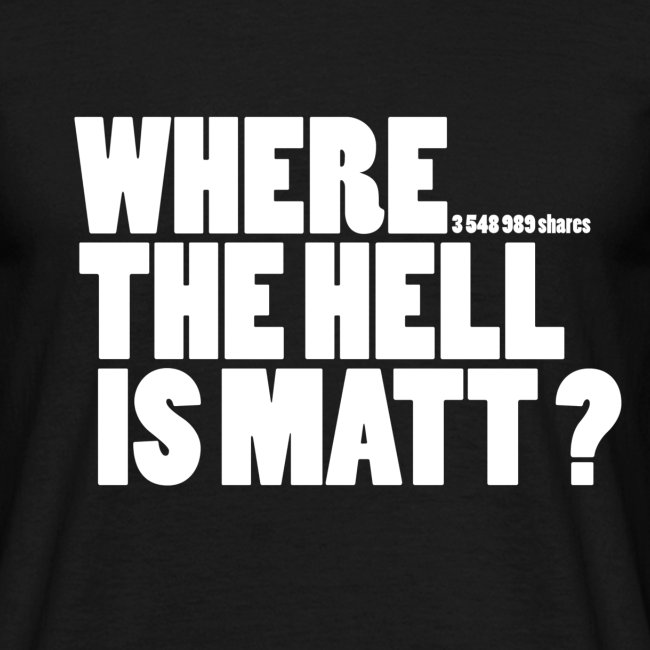 Where the hell is Matt? / White