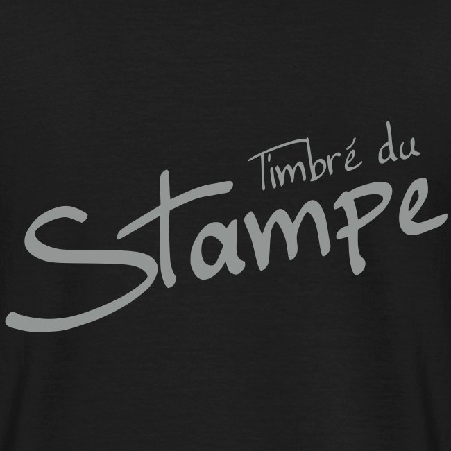"""Tshirt noir """"Timbré du Stampe"""""""