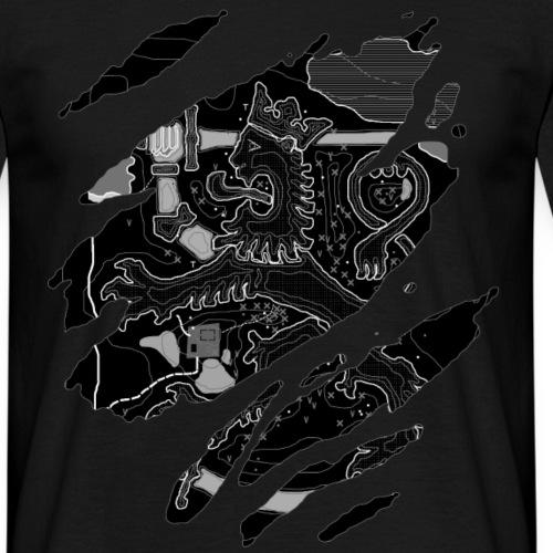 Karttaleijona (Valkoinen) - Miesten t-paita
