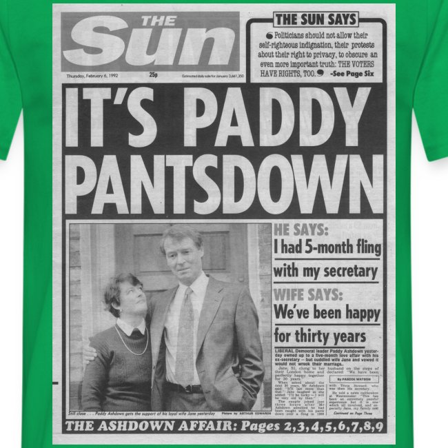 It s Paddy Pantsdown FP BW