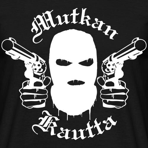 Mutkan Kautta remix - valkoinen printti - Miesten t-paita