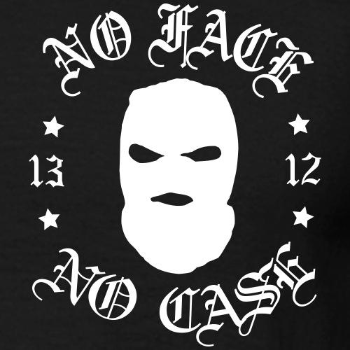 No Face No Case Skimask *printti selässä + edessä* - Miesten t-paita