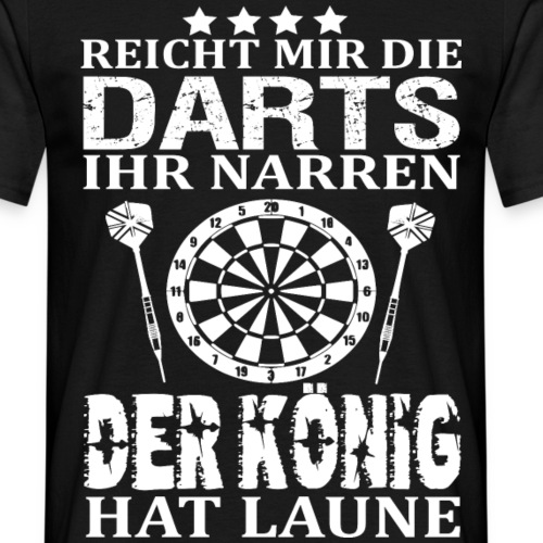 Lustiges Dart Sprüche Turnier Mannschaft Geschenk - Männer T-Shirt