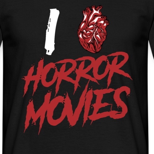 I Love Horror Movies - Männer T-Shirt