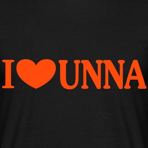I love Unna - Männer T-Shirt