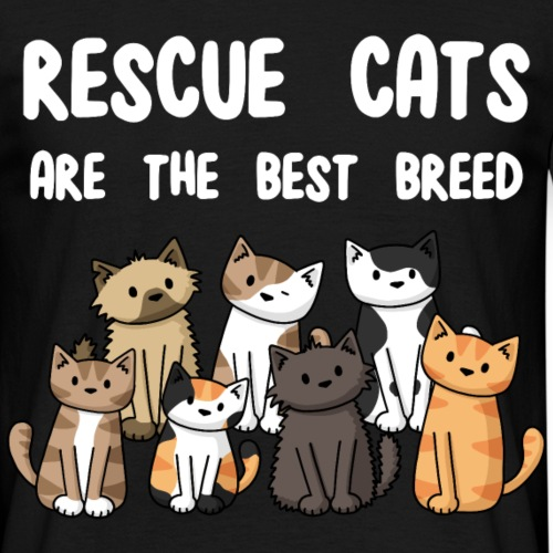 Rescue Cats Are The Best - Men's T-Shirt