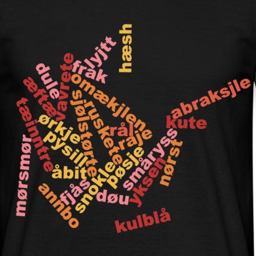 ordsky - T-skjorte for menn