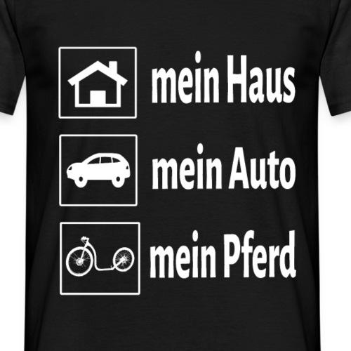 haus boot untereinander w - Männer T-Shirt