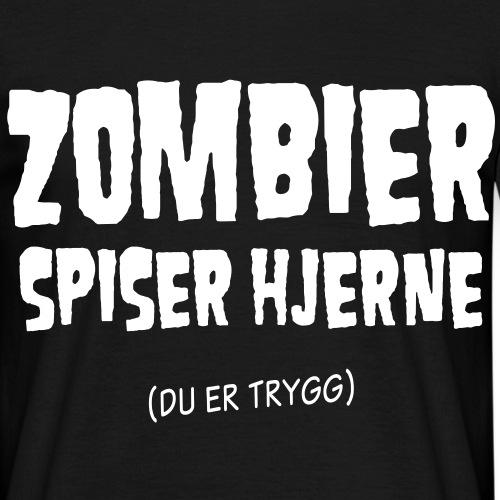 zombierspiserhjernenorsk01a - T-skjorte for menn