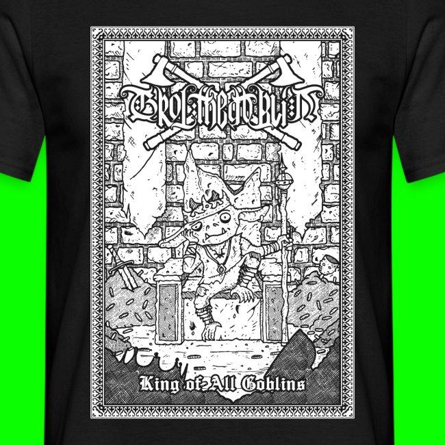 king of all goblins white on black