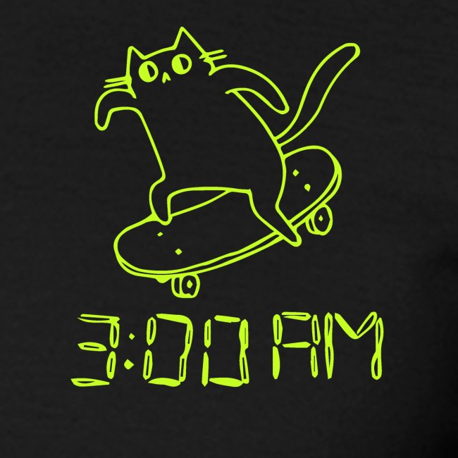 3 AM Cat lime