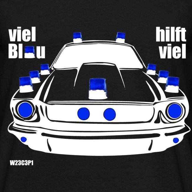 Überblauer Einsatzwagen