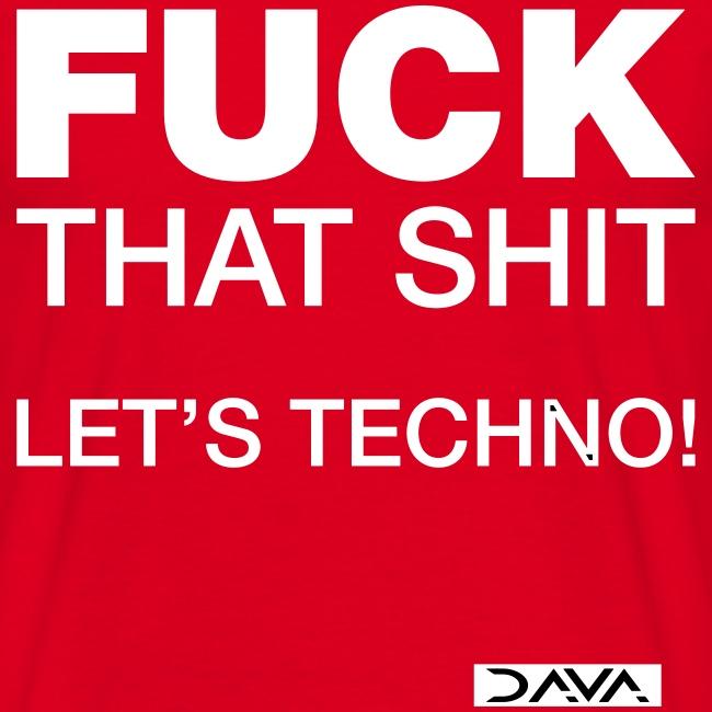 Let's techno - white
