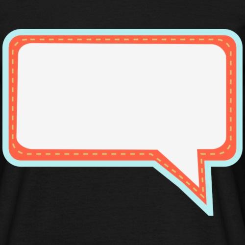 Sprechblase - Männer T-Shirt