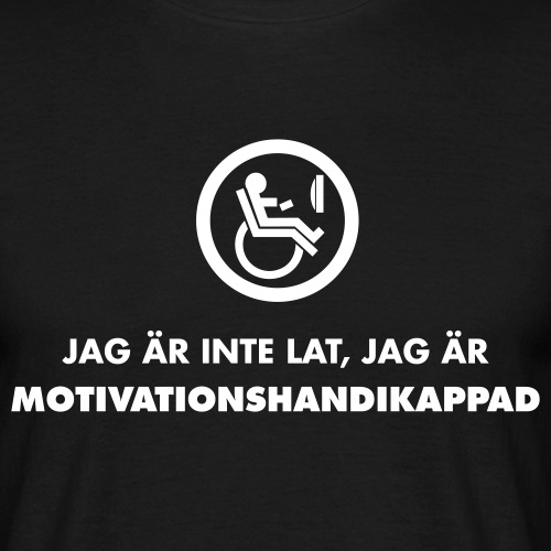 naken motivationshandikappad - T-shirt herr