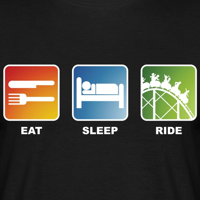 Eat, Sleep, Ride! - T-Shirt Schwarz