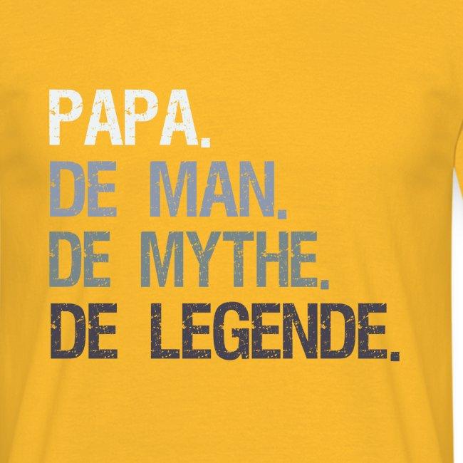Papa de man de mythe de legende. Vaderdag cadeau