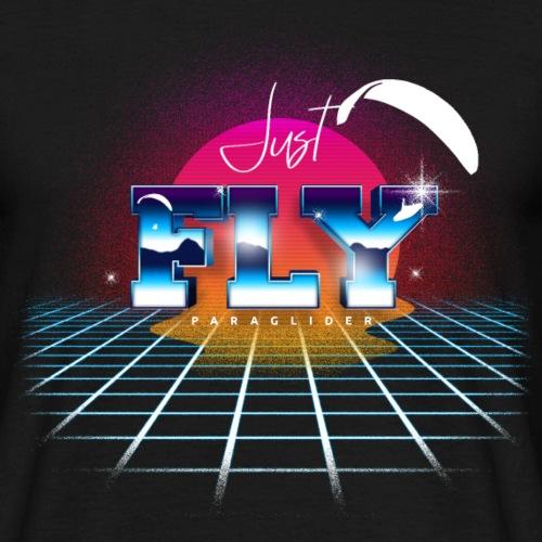 Just Fly Paraglider Retro - Männer T-Shirt