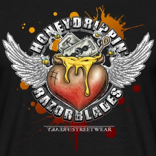 Honeydrippin' razorblades - Männer T-Shirt