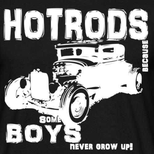 hotrod white - Herre-T-shirt