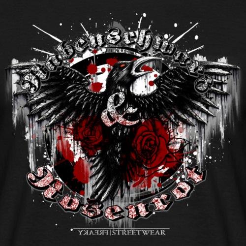 Rabenschwarz & Rosenrot - Männer T-Shirt