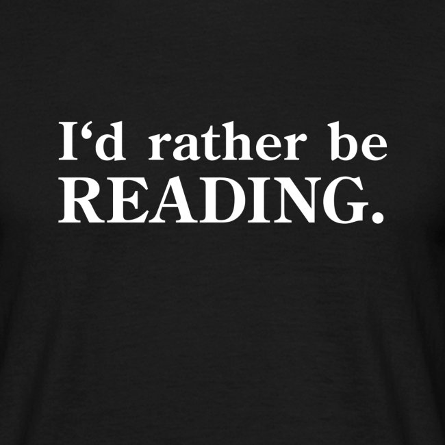 i would rather be reading notribal