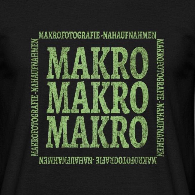 Wort Makro Makrofotografie Nahaufnahme mit Muster