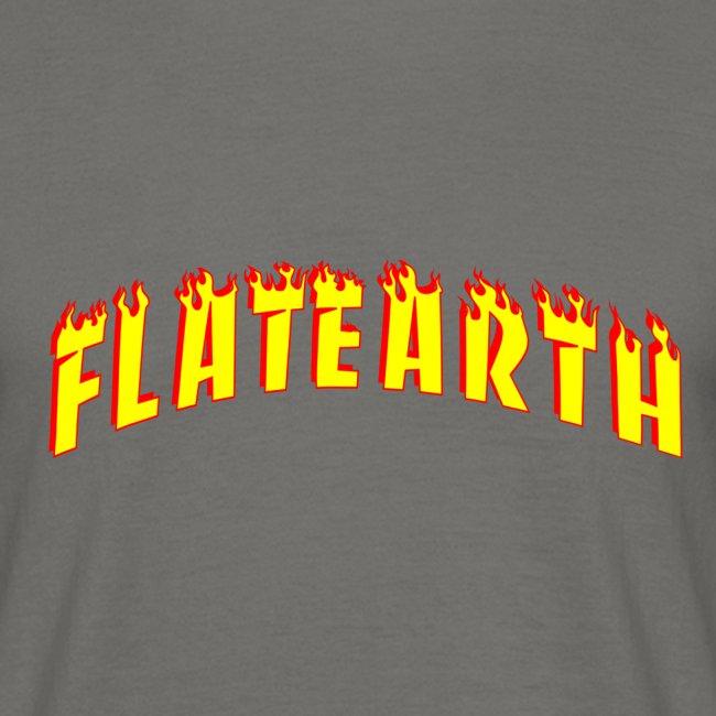 Flat Earth Trasher Burn