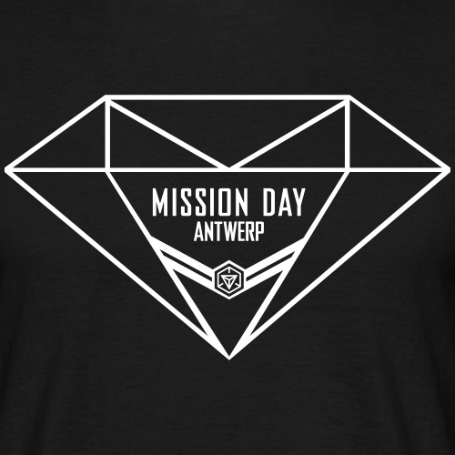 MD Antwerp Diamond logo - Men's T-Shirt