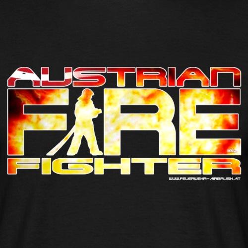 austrian firefighter Logo - Männer T-Shirt