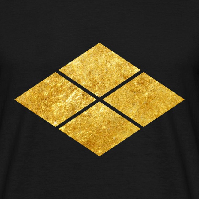 Takeda kamon Japanese samurai clan faux gold