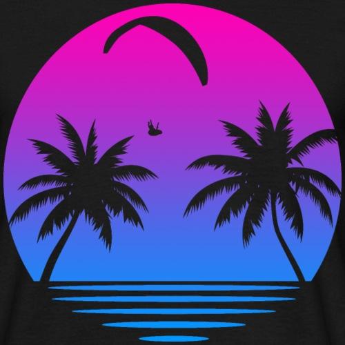 Paragliding Sunset - Männer T-Shirt
